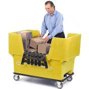 Dandux Yellow Easy Access 18 Bushel Plastic Mail & Box Truck 51166718Y-5S with Cargo Net