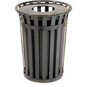 Global Industrial™ Outdoor Metal Waste Receptacle, 36 Gallon