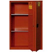 "Global&#8482 Paint & Ink Storage Cabinet - Manual Close Bi-Fold Single Door 72 Gallon - 43""W x 18""D"