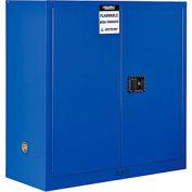 "Global&#8482 Acid Corrosive Cabinet - Manual Close Double Door 30 Gallon - 43""W x 18""D x 44""H"
