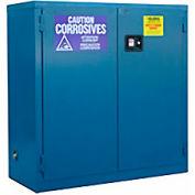 "Global&#8482 Acid Corrosive Cabinet - Self Close Double Door 30 Gallon - 43""W x 18""D x 44""H"