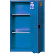 "Global&#8482 Acid Corrosive Cabinet - Manual Close Bi-Fold Single Door 45 Gallon - 43""W x 18""D x 65"""