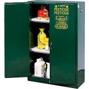 Pesticide Cabinet Manual Double Door 45 Gallon