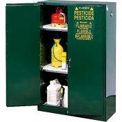 Pesticide Cabinet Self Close Double Door 45 Gallon