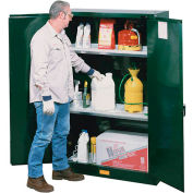 Pesticide Cabinet Self Close Double Door 60 Gallon