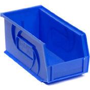 """LEWISBins Plastic Stacking Bin PB1405-5 - 5-1/2""""W x 14-3/4""""D x 5""""H, Blue - Pkg Qty 12"""