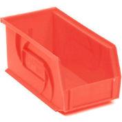 """LEWISBins Plastic Stacking Bin PB1405-5 - 5-1/2""""W x 14-3/4""""D x 5""""H, Red - Pkg Qty 12"""