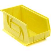 """LEWISBins Plastic Stacking Bin PB1808-9 - 8 1/4""""W x 18""""D x 9""""H, Yellow - Pkg Qty 6"""
