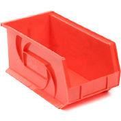 """LEWISBins Plastic Stacking Bin PB1808-9 - 8 1/4""""W x 18""""D x 9""""H, Red - Pkg Qty 6"""