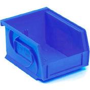 """LEWISBins Plastic Stacking Bin PB1811-10 - 11""""W x 18""""D x 10""""H, Blue - Pkg Qty 4"""