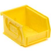 """LEWISBins Plastic Stacking Bin PB1811-10 - 11""""W x 18""""D x 10""""H, Yellow - Pkg Qty 4"""