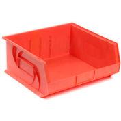 """LEWISBins Plastic Stacking Bin PB1816-11 - 16-1/2""""W x 18""""D x 11""""H, Red - Pkg Qty 3"""