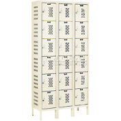 Hallowell U3288-6HV-A-PT Heavy-Duty Ventilated Locker Six Tier 12x18x1218 Door Assembled