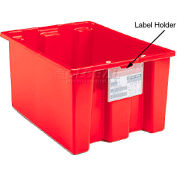 "Akro-Mils Clear Plastic Label Holder 35010 - 3-3/4"" X 5"" Pkg Of 6"