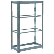 "Heavy Duty Shelving 36""W x 12""D x 72""H With 4 Shelves - No Deck - Gray"