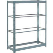 "Heavy Duty Shelving 48""W x 18""D x 72""H With 4 Shelves - No Deck - Gray"