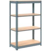 "Heavy Duty Shelving 36""W x 24""D x 72""H With 4 Shelves, Wood Deck"