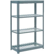 "Heavy Duty Shelving 36""W x 12""D x 72""H With 4 Shelves - Wire Deck - Gray"
