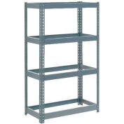 """Extra Heavy Duty Shelving 36""""W x 18""""D x 72""""H With 4 Shelves - No Deck - Gray"""