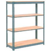 "Extra Heavy Duty Shelving 48""W x 12""D x 72""H With 4 Shelves, Wood Deck"