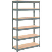 """Extra Heavy Duty Shelving 48""""W x 24""""D x 72""""H With 6 Shelves, Wood Deck"""