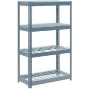 "Extra Heavy Duty Shelving 36""W x 18""D x 72""H With 4 Shelves, Wire Deck"