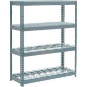 "Extra Heavy Duty Shelving 48""W x 24""D x 72""H With 4 Shelves - Wire Deck - Gray"