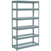 """Extra Heavy Duty Shelving 48""""W x 24""""D x 72""""H With 6 Shelves - Wire Deck - Gray"""