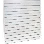 "Steel Slatwall Panel 96""H X 48""W Galvanized - Pkg Qty 4"
