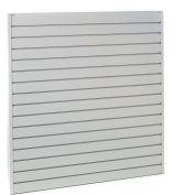 "Steel Slatwall Panel 48""H X 96""W Gray - Pkg Qty 4"