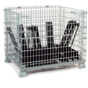 Folding Wire Container 48x40x42-1/2 2000 Lb Capacity