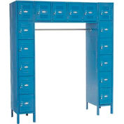 Infinity™ 16 Person Locker 12 x 18 x 12 Assembled Blue