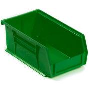Akro-Mils AkroBin® Plastic Stacking Bin 30220 -  4-1/8 x 7-3/8 x 3 Green - Pkg Qty 24