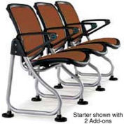 Modular Reception Seating Add-On Seat Brown
