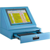 Global Industrial™ LCD Console Counter Top Security Computer Cabinet, Blue