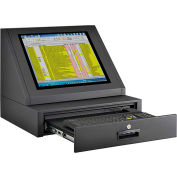 Global Industrial™ LCD Console Counter Top Security Computer Cabinet, Black
