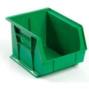 Premium Plastic Stacking Bin 8-1/4 X 10-3/4 X 7 Green - Pkg Qty 6