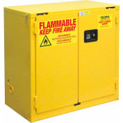 "Global&#8482 Flammable Cabinet  - Self Close Double Door 22 Gallon - 34""W x 18""D x 35""H"