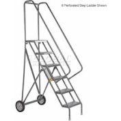 3 Step Steel Roll and Fold Rolling Ladder - Grip Strut Tread - KDRF103162