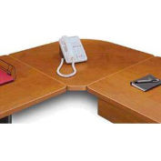Corner Connecter in Cherry - Modular Office Furniture