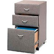 Three Drawer File in Pewter - Modular Office Furniture