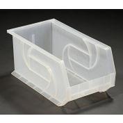 """LEWISBins Plastic Stacking Bin PB148-7CLEAR - 8-1/4""""W x 14-3/4""""D x 7""""H, Clear - Pkg Qty 12"""