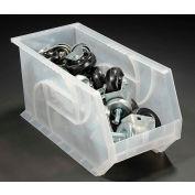 """LEWISBins Plastic Stacking Bin PB1808-9CLEAR - 8-1/4""""W x 18""""D x 9""""H, Clear - Pkg Qty 6"""