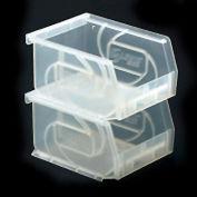 """LEWISBins Plastic Stacking Bin PB1011-5CLEAR -11""""W x 10-7/8""""D x 5""""H, Clear - Pkg Qty 6"""