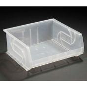 """LEWISBins Plastic Stacking Bin PB1416-7CLEAR - 16-1/2""""W x 14-3/4""""D x 7""""H, Clear - Pkg Qty 6"""