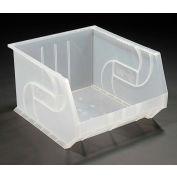 """LEWISBins Plastic Stacking Bin PB1816-11CLEAR - 16-1/2""""W x 18""""D x 11""""H, Clear - Pkg Qty 3"""