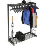 """48""""W Floor Rack With 16 Hangers - Black"""