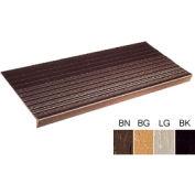 """Vinyl Tread Rib Pattern 48""""W Black - Pkg Qty 4"""