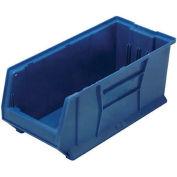 Quantum Hulk Plastic Stacking Bin QUS973BL 11 x 29-7/8 x 10 Blue - Pkg Qty 4