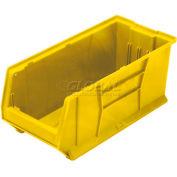 Quantum Hulk Plastic Stacking Bin QUS973YL 11 x 29-7/8 x 10 Yellow - Pkg Qty 4